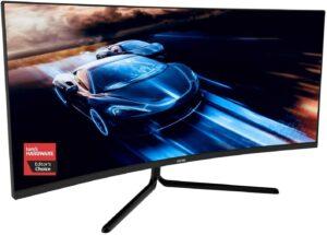 最实惠的曲面游戏显示器 Viotek gnv34dbe 34寸 curved gaming monitor
