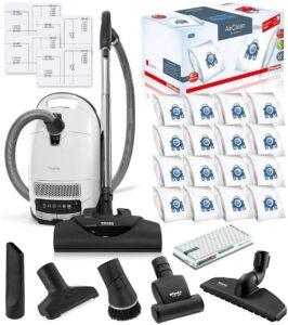 最高端的宠物吸尘器: Miele Complete C3 Cat and Dog Canister HEPA Canister Vacuum Cleaner with SEB228 Powerhead Bundle