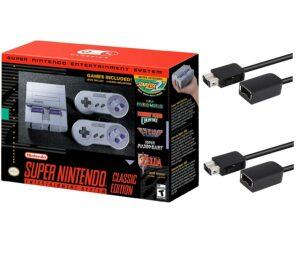 经典怀旧游戏机 Nintendo Super Entertainment System SNES Classic Edition with Two 6-ft. Extension Cable