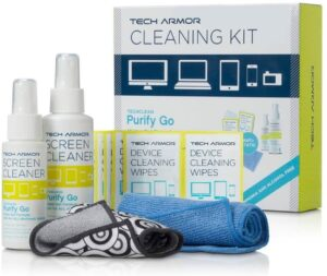 Tech Armor 120 ML Pro Cleaning Kit Spray with ExtraMove Formula and Cleansing Wipe