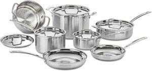 不锈钢锅具套装 Cuisinart MCP-12N Multiclad Pro Stainless Steel 12-Piece Cookware Set