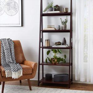 五层阶梯式书柜 书架 Amazon Basics Modern 5-Tier Ladder Bookshelf