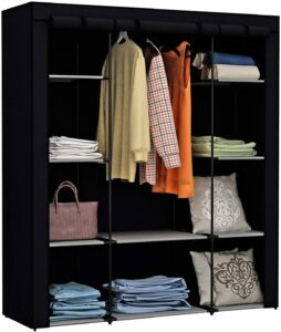 便携式衣柜储物架 Homebi Clothes Closet Portable Wardrobe Durable Clothes Storage Organizer