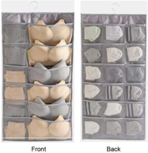 双面悬挂式壁橱衣橱收纳袋 TuuTyss 30 Mesh Pockets Dual-Sided Hanging Closet Organizer