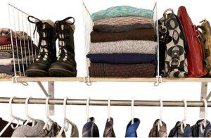 壁橱衣橱分隔器 Evelots Closet Wood Shelf Divider
