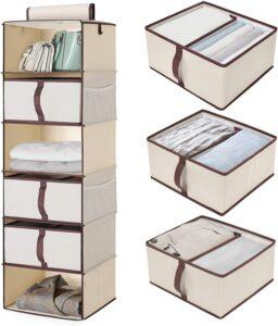 悬挂式壁橱衣橱整理器 StorageWorks 6-Shelf Hanging Closet Organizer