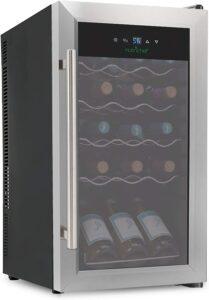 最佳日常使用的红酒冷藏柜 NutriChef 18 Bottle Dual Zone Thermoelectric Wine Cooler