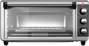 最实惠的对流式电烤箱 BLACK+DECKER TO3250XSB 8-Slice Extra Wide Convection Countertop Toaster Oven