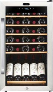 最适合存放葡萄酒的柜式迷你冰箱 Whynter FWC-341TS 34 Bottle Freestanding Wine Refrigerator