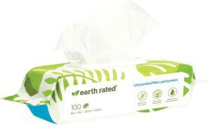 最适合敏感肌肤的宠物狗狗用的湿巾 Earth Rated Dog Wipes, Plant-Based and Compostable Wipes for Dogs