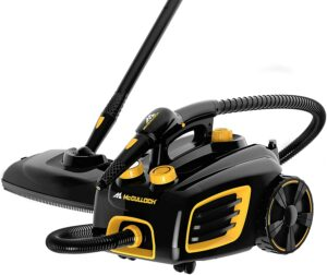 最适合清洁床垫的蒸汽清洁机 McCulloch MC1375 Canister Steam Cleaner with 20 Accessories, Extra-Long Power Cord, Chemical-Free Cleaning for Most Floors, Counters, Appliances, Windows, Autos, and More