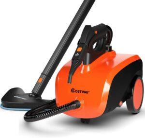 最适合清洁沙发用的蒸汽清洁机 COSTWAY Multipurpose Steam Cleaner with 19 Accessories Cleaning Machine for Carpet, Floors, Windows and Cars