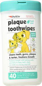 最适合清洁狗狗牙齿的湿巾 Petkin Toothwipes Dogs