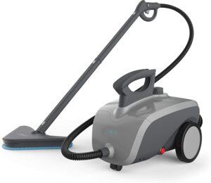最适合清洁硬木地板的蒸汽清洁机 Pure Enrichment PureClean Steam Cleaner - 1500-Watt Multi-Purpose Household System for Deep Cleaning Floors, Windows, BBQ Grills, Grout, Cars