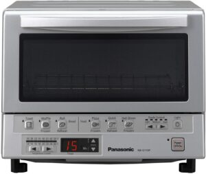 最适合给冷冻食品加热用的电烤箱 Panasonic FlashXpress Compact Toaster Oven with Double Infrared Heating