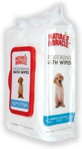 最适合除掉狗狗身上异味的湿巾 Nature's Miracle Deodorizing Bath Wipes for Dogs