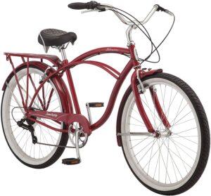 男女均可用的复古风格沙滩巡洋舰自行车 Schwinn Sanctuary 7 Cruiser Bike