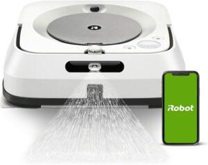 适合清洁硬木地板和瓷砖地板的拖把机器人 iRobot Braava Jet M6 (6110) Ultimate Robot Mop- Wi-Fi Connected