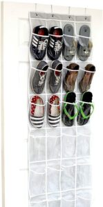 透明门挂式鞋的收纳神器 SimpleHouseware Crystal Clear Over The Door Hanging Shoe Organizer