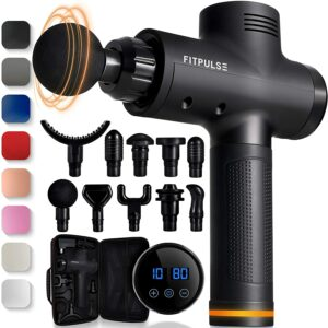 附件最丰富的按摩枪 FITPULSE Muscle Massage Gun for Athletes