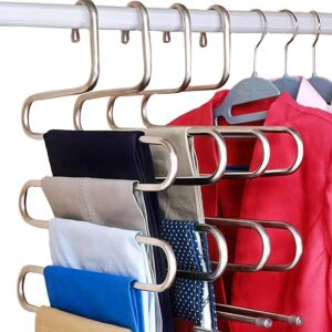 S型不锈钢衣架 DOIOWN S-Type Stainless Steel Clothes Pants Hangers