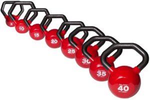 具有不同重量的壶铃套装 Body-Solid Vinyl-Coated Kettlebells Set, 5-30 Pounds