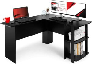具有传统风格的L型办公桌 Best Choice Products L-Shaped Corner Computer Desk Study Workstation