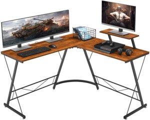 总体性能最佳的L形办公桌 Mr IRONSTONE L-Shaped Desk 50.8 inch Computer Corner Desk