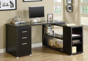 最具存储空间的L型办公桌 Monarch Specialties Computer Desk - Left or Right Facing Corner