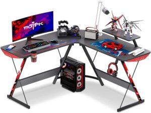 最适合玩游戏的L型电脑桌 MOTPK L Shaped Gaming Desk 51INCH L Shaped Desk