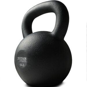 泰坦健身铸铁壶铃(50磅) Titan Fitness Cast Iron Kettlebell 50lb