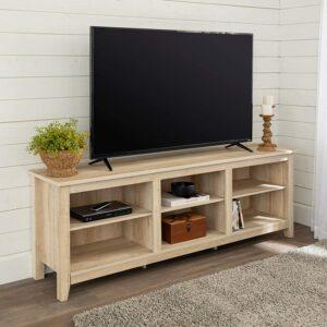 电视架推荐Walker Edison Wren Classic 6 Cubby TV Stand for TVs