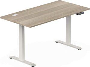 可调节高度的升降办公桌 SHW 55-Inch Large Electric Height Adjustable Computer Desk