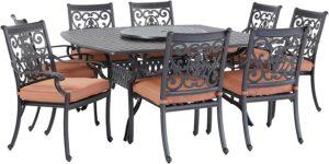 后院多人餐桌套装 Darlee St. Cruz Cast Aluminum 10-Piece Dining Set