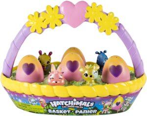 复活节装彩蛋的篮子和玩具 Hatchimals CollEGGtibles Basket with 6 Hatchimals CollEGGtibles