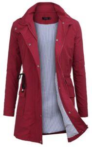 女士春季服装FISOUL Raincoats Waterproof Lightweight Rain Jacket
