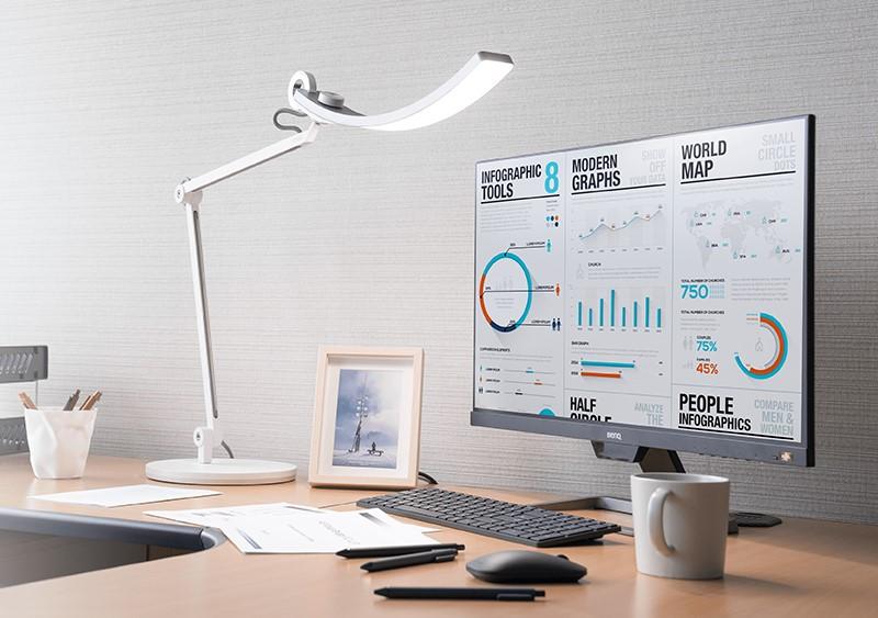 工作读书用的护眼台灯 BenQ e-Reading LED Desk Lamp with Swing Arm