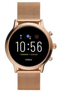 最佳时尚女性智能手表 Fossil Gen 5 Julianna Stainless Steel Touchscreen Smartwatch