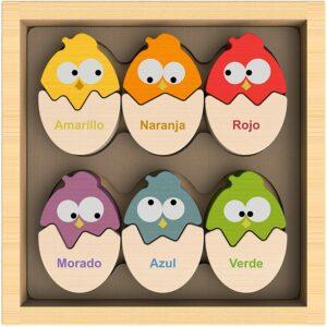 木制复活节彩蛋配对拼图 BeginAgain Color 'N Eggs Matching Puzzle