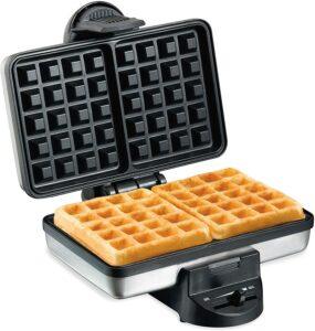 简单易用的基础华夫饼机 Hamilton Beach 2-Slice Non-Stick Belgian Waffle Maker