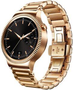 经典豪华设计的女性智能手表 Huawei Watch Gold Plated Stainless Steel with Gold Plated