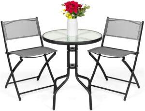 3件式露台小酒馆餐具 3-Piece Patio Bistro Dining Furniture Set