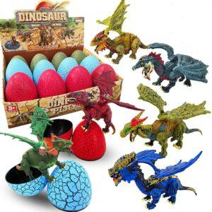 3D恐龙蛋玩具 12 Pcs Large Dinosaur Eggs with 3D Dinosaur Figures Toys