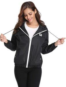 Abollria Raincoats Waterproof Lightweight Hooded 女士上衣推荐
