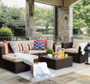 Flamaker 6件露台户外家具套装 Flamaker 6 Pieces Patio Furniture Outdoor Sets