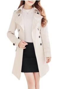 春季女士服装推荐NANJUN Women's Double Breasted Trench Coat