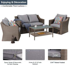 Stamo 5件户外露台家具沙发套装 Stamo 5 Piece Outdoor Patio Furniture Set