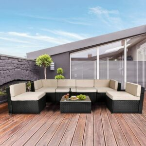 U-MAX 7件户外庭院家具套装 U-MAX 7 Piece Outdoor Patio Furniture Set