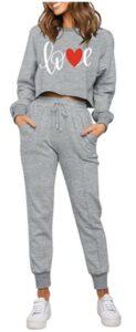 ZESICA Women's Long Sleeve Crop Top and Pants Pajama Sets 女士睡衣推荐