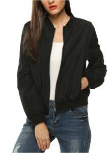 Zeagoo Women's Bomber Jacket Casual Coat 女士外套推荐